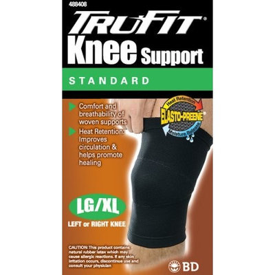 Trufit Tru-Fit Elasto-Preene Knee Support, Black, Large/Extra Large, 1 Count