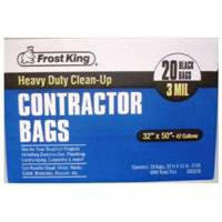 Thermwell Products Thermwell 4CB3250 Frost King Contractor Trash Bags - 20-Pack