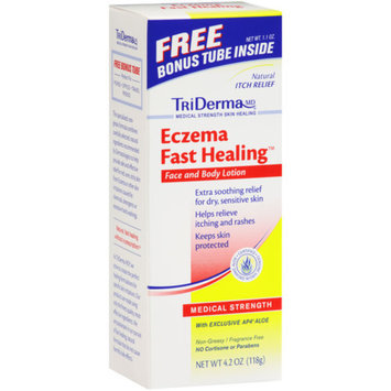 MISC BRANDS TriDerma MD Eczema Fast Healing Face and Body Lotion with Bonus Tube, 4.2 oz