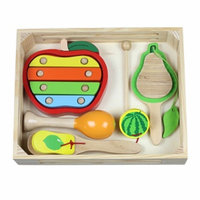 Discoveroo Fruit Music Wooden Percussion Set Ages 3+, 1 ea