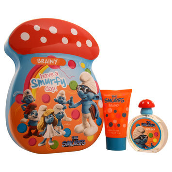 First American Brands K-GS-1960 The Smurfs Brainy - 2 pc - Gift Set