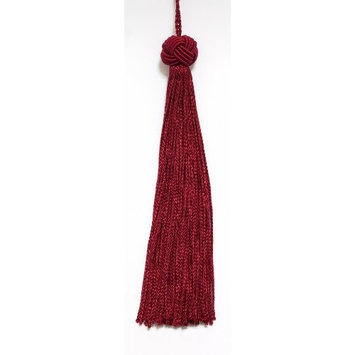DecoPro Tiebacks Tassels Set of 10 Red Woven Head Chainette Tassel, 5.5 Inch Long with 2 Inch Loop, Basic Trim Collection Style# BH055 Color: Red - E13