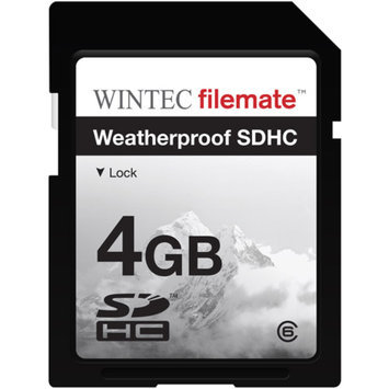 FileMate Wintec Filemate 4GB Class 6 SDHC Weatherproof Memory Card, Assorted Colors