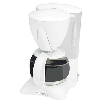 Continental Electrics Continental Electric 4 Cup Coffee Maker CE23581 Pause and Serve-white
