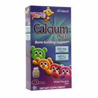 Yum-V's Calcium Plus D Gummies, White Chocolate, 40 ea