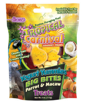 FM Browns Brown'sA Yogurt Yummies Big Bites Parrot & Macaw Bird Treats