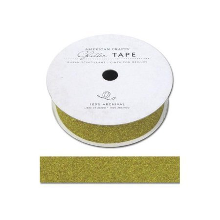 American Crafts ACGT96067 Glitter Paper Tape 3 YardsSpoolSunflower .875 in.