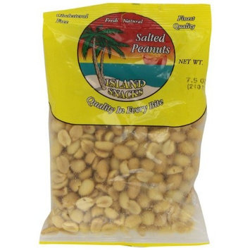 Island Snacks Peanuts, 7.5-Ounce (Pack of 6)