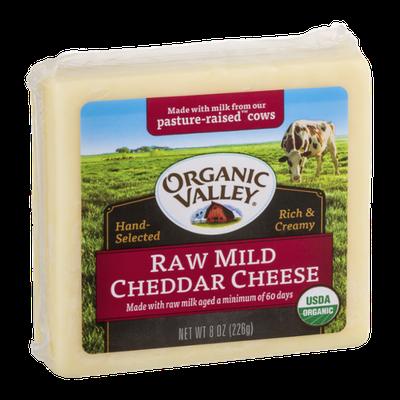 Organic Valley Raw Mild Cheddar Cheese