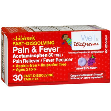 Walgreens Children's Pain Reliever Meltaways, Grape, 30 Each