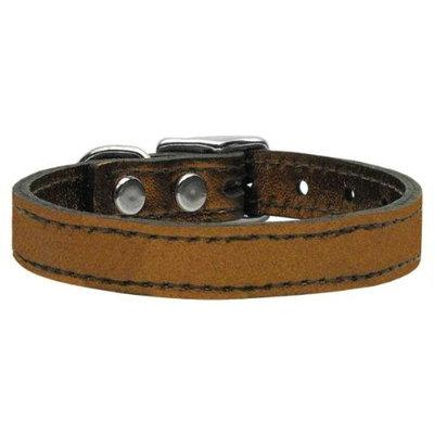 Ahi Plain Metallic Leather Bronze 18