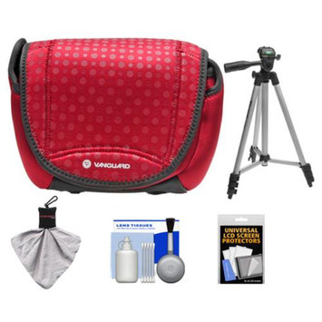 Vanguard Nivelo 18 Mirrorless Interchangeable Lens Digital Camera Case (Red) with Tripod + Accessory Kit