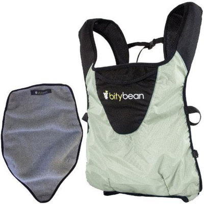 Bitybean - UltraCompact Baby Carrier with Fleece Liner - Sand Grey