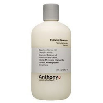 Anthony Logistics for Men Everyday Shampoo, Normal to Dry, 2 Ounce