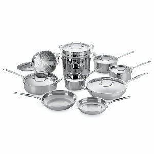 Cuisinart 17-Piece Chef's Classic Cookware Set