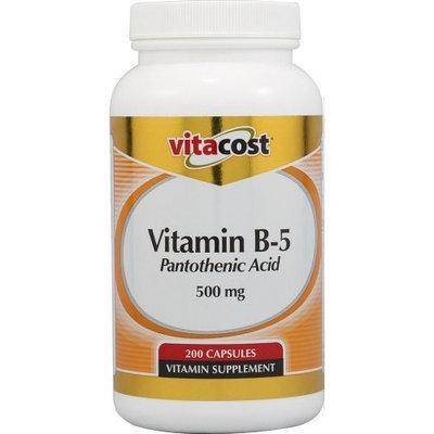 Vitacost Brand Vitacost Vitamin B5 Pantothenic Acid -- 500 mg - 200 Capsules