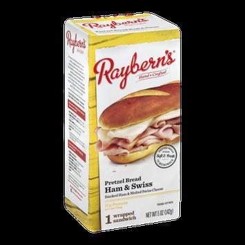 Raybern's Wrapped Sandwich Pretzel Bread Ham & Swiss