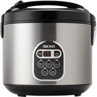 Aroma 20-Cup Fuzzy Logic Programmable Rice Cooker and Steamer, Stainless Steel