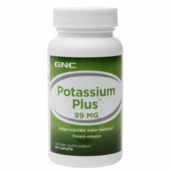 GNC Potassium Plus 99, Timed-Release Tablets, 60 ea