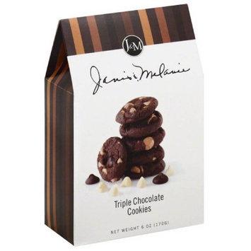 Jm Foods Janis & Melanie Triple Chocolate Cookies, 6 oz, (Pack of 6)