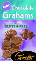 Pamela's Products GRAHAMS, CHOCOLATE, MINI, GF, (Pack of 6)