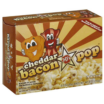 J&D's Cheddar Bacon Pop Bacon-Flavor Microwave Popcorn