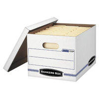 Bankers Box 15 x 12 x 10 Stor/File Storage Box, Letter/Legal, Lift-