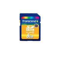 Transcend SDHC150 SDHC Card - 8GB, SD 2.0, SLC, RoHS, CPRM, Up to Class 6, 20MB/s - TS8GSDHC150