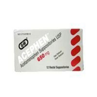 G & W Laboratories Acephen acetaminophen rectal suppositories usp 650 mg by G and W labs - 12 Ea/box