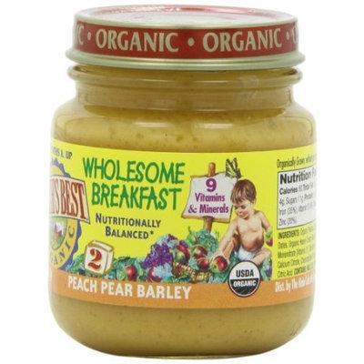 Earth's Best Organic Peach Pear Barley Wholesome Breakfast, 4.5 Ounce Jars (Pack of 12)