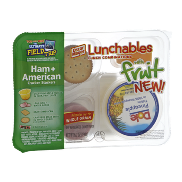 Oscar Mayer Lunchables Ham + American Cracker Stackers Lunch Combinations with Fruit