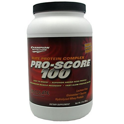 Champion Nutrition Pro-Score 100 Elite Protein Complex, Chocolate, 32- Ounce Plastic Jar