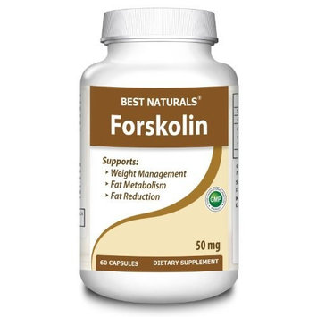 Best Naturals, Forskolin 50, 60 Capsules, 250mg, Weight Loss Supplement