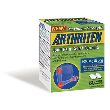 Arthriten Maximum Strength Joint Pain Relief Formula, 80 Count Tablets (Pack of 2)