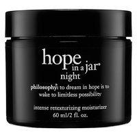 philosophy hope in a jar night intense retexturizing moisturizer