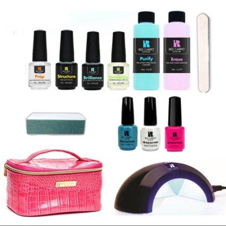 Red Carpet Manicure Cinderella 5 Color LED Gel Nail Polish Kit Set + Travel Bag