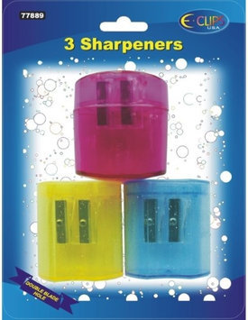 DDI 1284946 Pencil Sharpeners - double hole - 3 pack Case Of 48