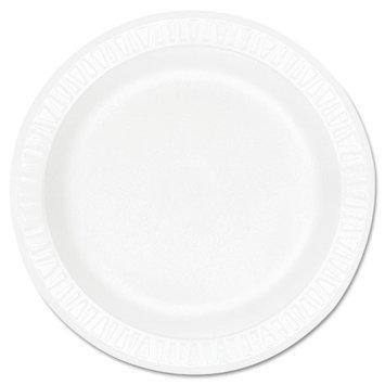 Dart Concorde Foam Plate, 9 dia, White, 125/Pack, 4 Packs/Carton