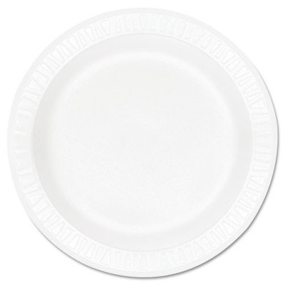 Dart Concorde Foam Plate, 9 dia, White, 125/Pack, 4 Packs/Carton