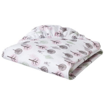 Eddie Bauer Pink Bunny & Trees Fitted Crib Sheet
