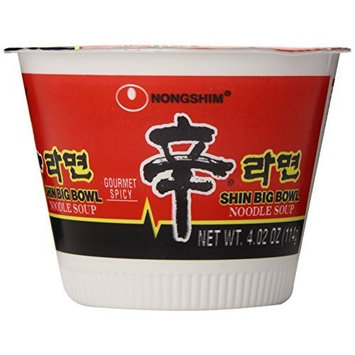 Nong Shim Nongshim Shin Big Bowl Noodle, 4 Ounce Bowls (Pack of 12)