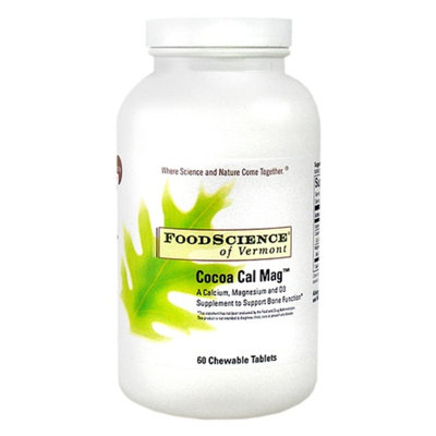 FoodScience of Vermont Cocoa Cal Mag Chewable Tablets