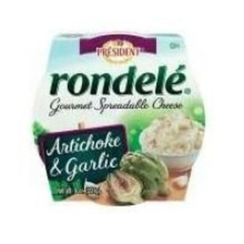 Rondele by President Artichoke & Garlic Gourmet Spreadable Cheese, 8 oz