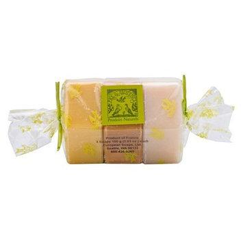 Pre de Provence Soap, 3 Pack, Pollen/ Rosemary/ Lavender Honey, 10.6 -Ounce Cello Wrap