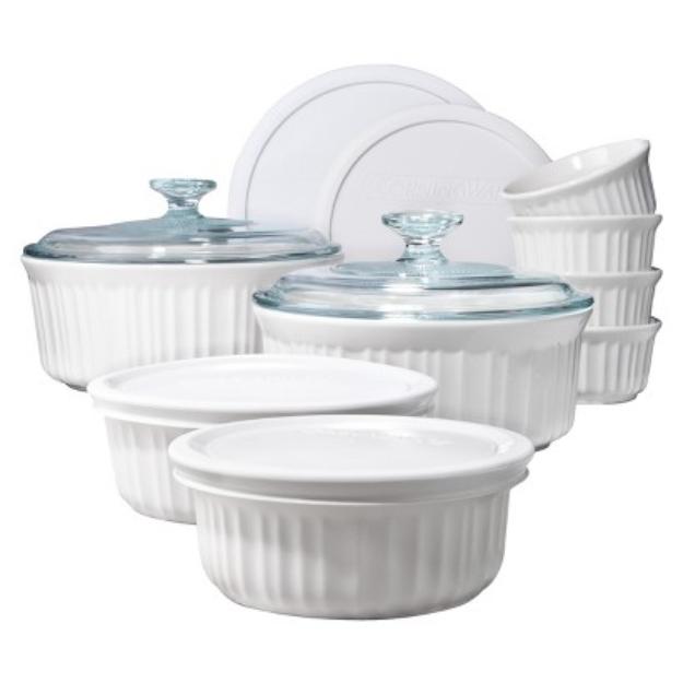 Corningware 14 piece French White Bake Set