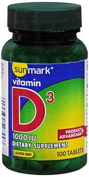 Sunmark Vitamin D3 Tablets, 1000 IU, 100 Tabs by Sunmark