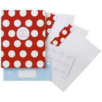 The Gift Wrap Company Mega Dots Laser and Ink Jet Letter Sets with 25 sheets, 26 Envelopes & 30 Seals