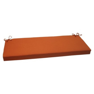 Pillow Perfect Outdoor Bench Cushion - Burnt Orange Fresco Solid