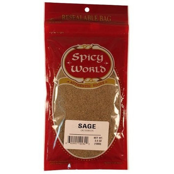 Spicy World Rubbed Sage, 3.5-Ounce Bags (Pack of 6)