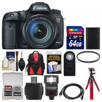 Canon EOS 7D Mark II GPS Digital SLR Camera & EF-S 18-135mm IS STM Lens with 64GB Card + Backpack + Flash + Battery + Tripod + Filter + Remote Kit